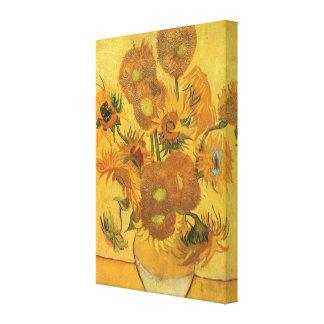 Vase avec 15 tournesols par Vincent van Gogh Toiles