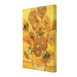 Vase avec 15 tournesols par Vincent van Gogh Toiles Tendues Sur Châssis