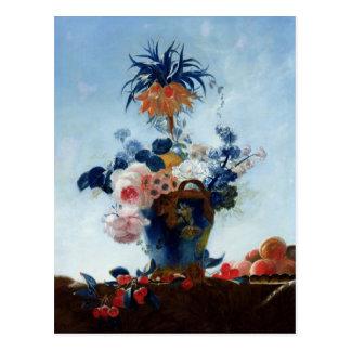 Vase avec des fleurs carte postale
