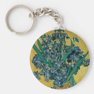 Vase avec des iris par Vincent van Gogh, art Porte-clé Rond