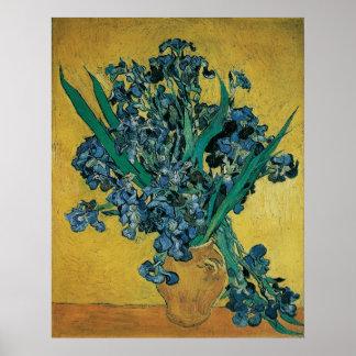 Vase avec des iris par Vincent van Gogh, art Posters