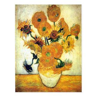 Vase avec quinze tournesols par Vincent van Gogh 1 Carte Postale