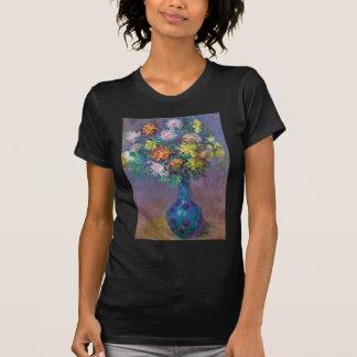 Vase de chrysanthèmes Claude Monet T-shirt