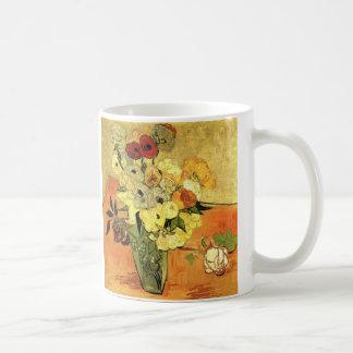 Vase japonais à Van Gogh avec des roses et des Mug