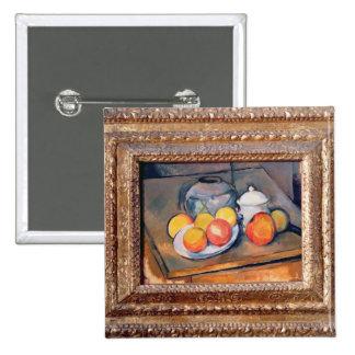 vase, sucrier et pommes Paille-couverts Badge