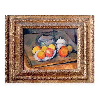 vase, sucrier et pommes Paille-couverts Carte Postale