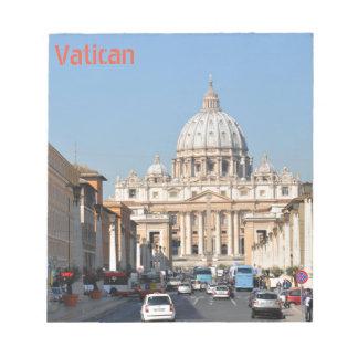Vatican, Rome, Italie Bloc-note
