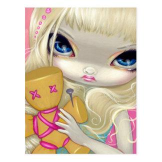 """Vaudou en"" carte postale rose"