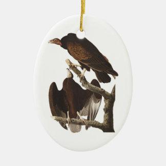 Vautour de Turquie d'Audubon Ornement Ovale En Céramique