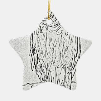 vautour ornement étoile en céramique