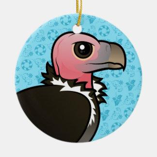 vautour Plumetis-fait face Ornement Rond En Céramique