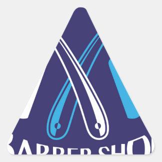Vecteur d'icône de logo de salon de coiffure sticker triangulaire