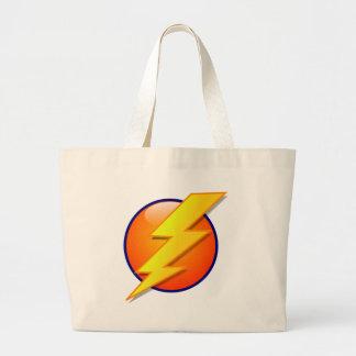 vecteur d'icône d'énergie de globe de foudre grand sac