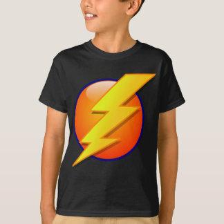 vecteur d'icône d'énergie de globe de foudre t-shirt