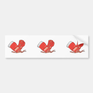 vecteur rouge de gants de boxe autocollants pour voiture