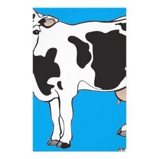 vecteurs de bande dessinée de vache--b papiers à lettres