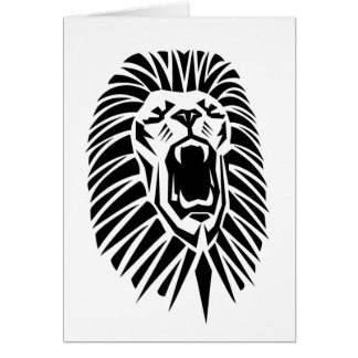 vecto principal de lion carte de vœux