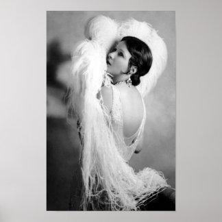 Vedette de cinéma muet Norma Talmadge Posters
