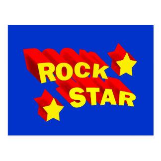 Vedette du rock cartes postales