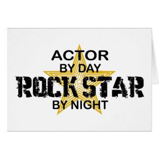 Vedette du rock d'acteur par nuit cartes