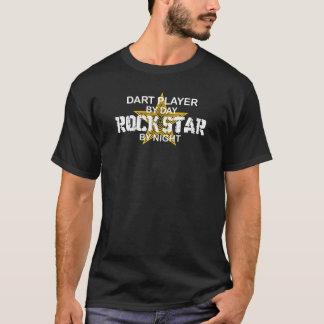Vedette du rock de joueur de dard par nuit t-shirt