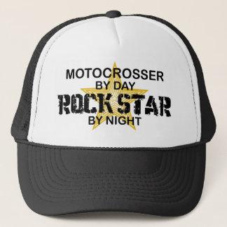 Vedette du rock de Motocrosser par nuit Casquette