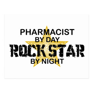 Vedette du rock de pharmacien par nuit carte postale