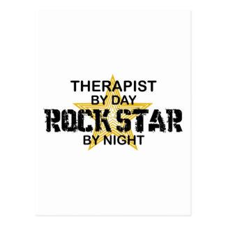 Vedette du rock de thérapeute par nuit carte postale