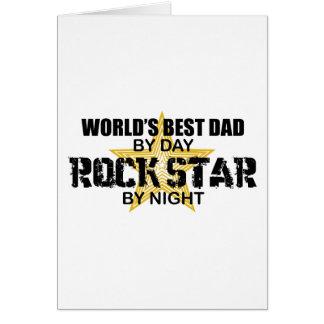 Vedette du rock par nuit - le meilleur papa du cartes