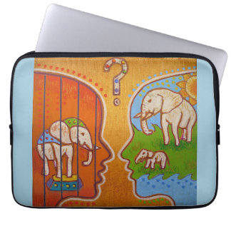 Vegan circus computer cover housses ordinateur portable