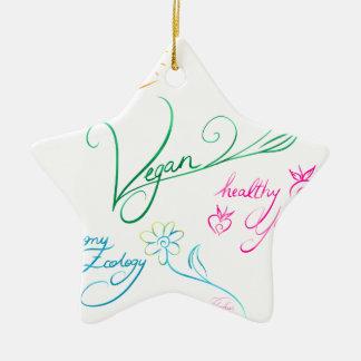 Vegan & happy lifestyle ornement étoile en céramique