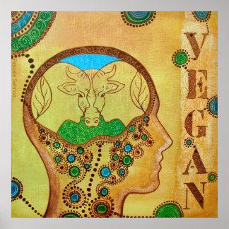Vegan human cow Poster