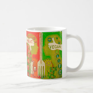 Vegan life fork mug