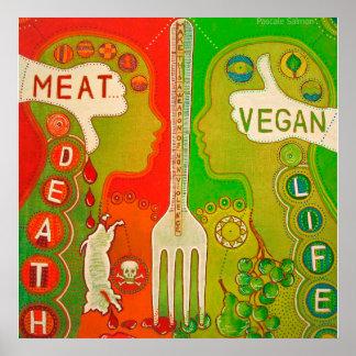 Vegan meat or life Poster