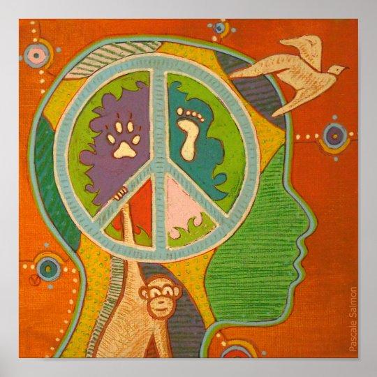 Vegan peace Poster
