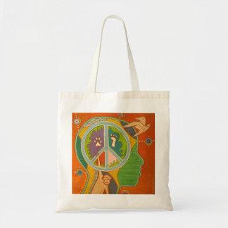 Vegan peace sacs fourre-tout