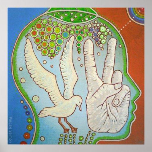 Vegan wings hand Poster