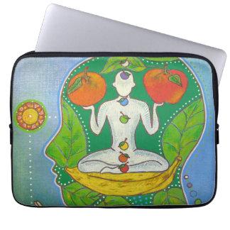 Vegan yoga computer cover housse pour ordinateur portable