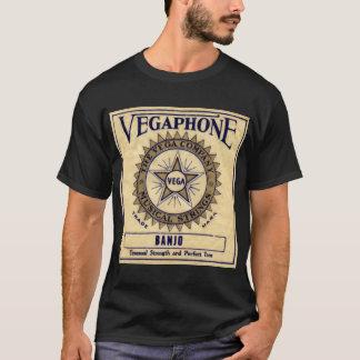 Vegaphone ficelle le T-shirt court foncé de la