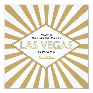Vegas allume l'invitation d'enterrement de vie de carton d'invitation  13,33 cm
