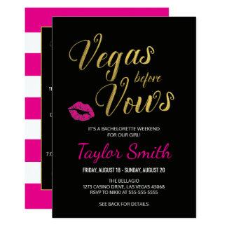 Vegas avant invitation itinéraire de Bachelorette