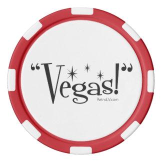 """""""Vegas ! """"Jeton de poker de RetroLV.Com Rouleau De Jetons De Poker"""