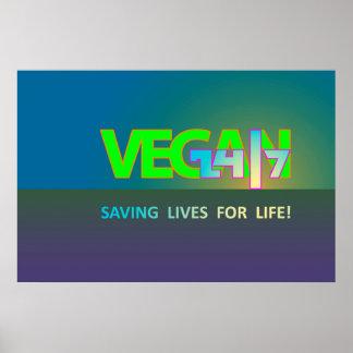 Végétalien 24/7 pendant la vie ! poster