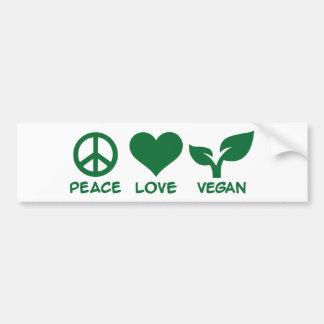 Végétalien d'amour de paix autocollant pour voiture