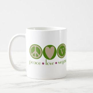 Végétalien d'amour de paix mug