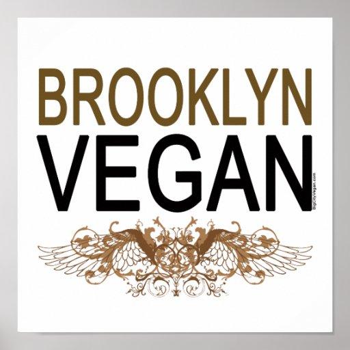 Végétalien de Brooklyn Affiche