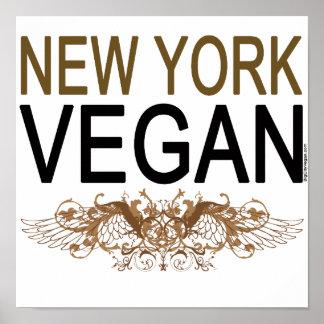 Végétalien de New York Posters