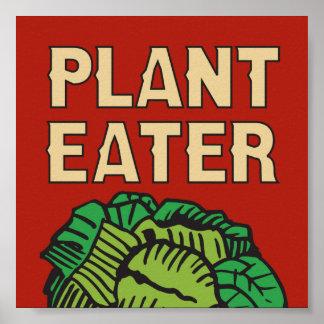 Végétalien de végétarien de conception de mangeur poster