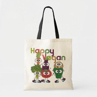 Végétalien heureux sac en toile