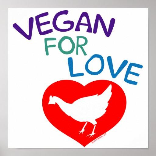 Végétalien pour l'amour posters